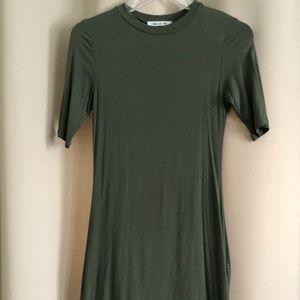 Olive Green Mini Dress